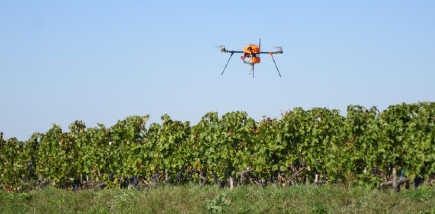 Vitidrone: mise au point d'un service de télédétection du vignoble par des drones
